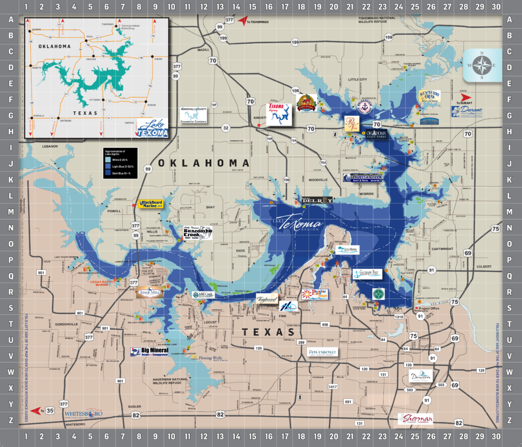 Area Map Lake Texoma Associationlake Texoma Association