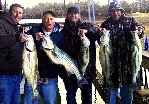 Clyde Fisher Group from Coppell Tx with Lake Texoma Stripers